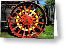 Tractor Big Wheel Greeting Card