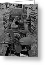 Tractor Bw Greeting Card