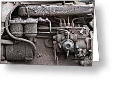 Tractor Engine II Greeting Card