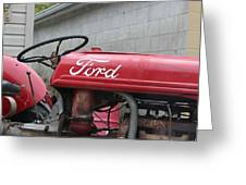 Tractor, Ford  Greeting Card