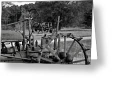 Tractor Graveyard Greeting Card