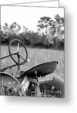 Tractor In Long Grass Greeting Card