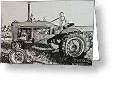 Tractor Greeting Card by Mary Capriole