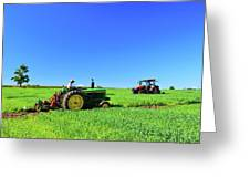 Tractors Working  Greeting Card