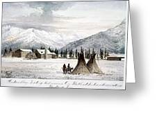Trading Outpost, C1860 Greeting Card