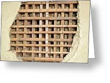 Traditional Bamboo Mud Wall Construction Greeting Card