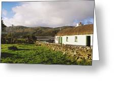 Traditional Cottage, Near Lough Rus Greeting Card