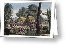 Traditional Customs Of The Chamorro Classes Greeting Card