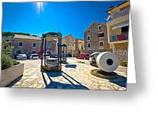 Traditional Dalmatian Town Of Tisno Square Greeting Card