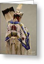 Pow Wow Traditional Dancer 1 Greeting Card