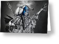 traditional dancer Blue Greeting Card