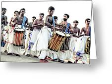 Traditional Drummers Greeting Card