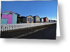 Traditional English Beach Huts Greeting Card