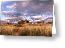 Traditional Hut Of Madagascar Countryside Greeting Card