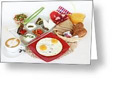 Traditional Israeli Breakfast Greeting Card
