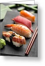 Traditional Japanese Sushi 2 Greeting Card