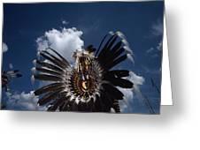 Traditional Native American Dancers Greeting Card by Lynn Johnson