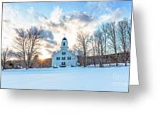 Traditional New England White Church Etna New Hampshire Greeting Card