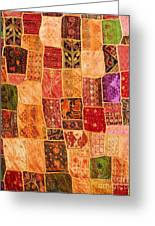 Traditional Patchwork Tapestry Greeting Card