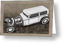 Traditional Styled Hot Rod Sedan Greeting Card