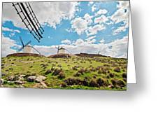 Traditional White Windmills  Greeting Card