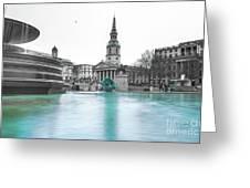 Trafalgar Square Fountain London 3 Greeting Card