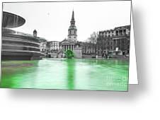 Trafalgar Square Fountain London 3f Greeting Card