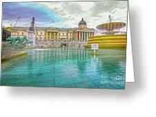 Trafalgar Square Fountain London 4 Greeting Card