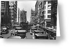 Traffic On Fifth Avenue Greeting Card