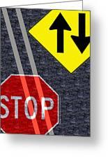 Traffic Signs Greeting Card