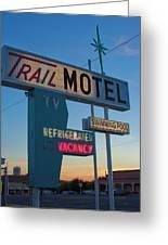 Trail Motel At Sunset Greeting Card