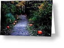 Trail Of 100 Jack-o-lanterns Greeting Card