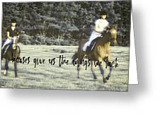 Field Racing Quote Greeting Card
