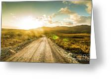 Trail To Trial Greeting Card