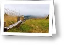 Trail With Coastal Morning Fog Greeting Card