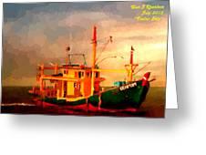 Trailer Ship H A Greeting Card