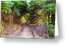 Trails Of Tracks Greeting Card