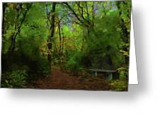Trailside Bench Greeting Card