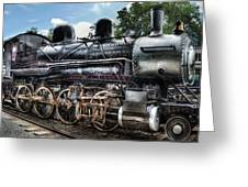 Train - Engine - 385 - Baldwin 2-8-0 Consolidation Locomotive Greeting Card