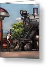 Train - Engine - Alllll Aboard Greeting Card