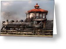 Train - Engine -the Great Western 90 Greeting Card by Mike Savad
