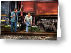Train - Yard - Shoot'in The Breeze Greeting Card