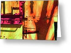 Train Abstract Variation Greeting Card