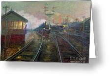 Train At Night Greeting Card