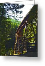 Train Bridge Greeting Card