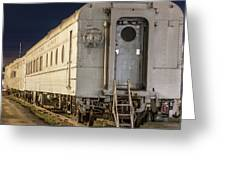Train Car And Tracks Greeting Card