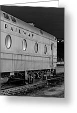 Train Car, Black And White Greeting Card