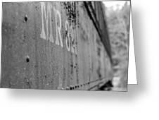 Train Car Elbe Washington Greeting Card