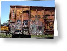 Train Car Graffiti 1 Greeting Card