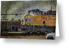 Train Coming Through Greeting Card